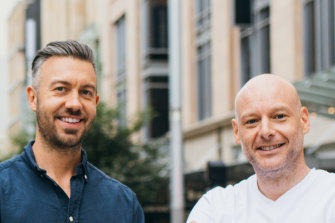 Limepay co-founder Tim Dwyer and co-founder and former chief revenue officer Dan Peters who quit last week.