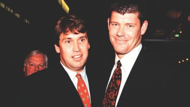 David Gyngell and James Packer in happier times