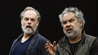 Hugo Weaving (left) and Wayne Blair in Wonnangatta.