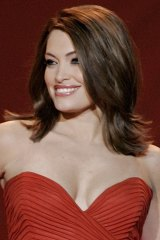 Kimberly Guilfoyle supported President Donald Trump at the event.