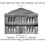 An illustration from a Scottish manufacturer of iron buildings. that included the model used for NSW's Legislative Council. The original dome roof was replaced.
