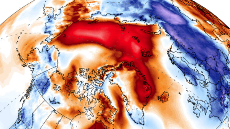 """It's just wrong"": This week's unusual burst of heat over the Arctic."