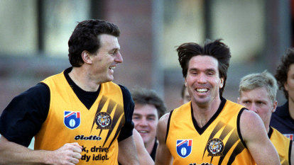 Former Tigers teammates on opposite sides of the grand final divide