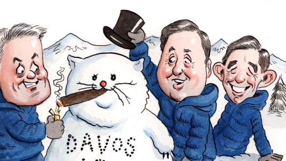 An Aussie crowd on the slopes as Davos talkfest nears