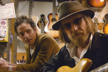 Jakob Dylan, left, with Tom Petty.