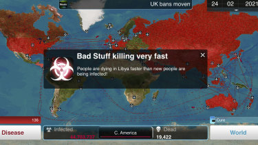Plague Inc. is a sufficiently disturbing variation of the world we all live in now, if only we were the ones controlling the disease rather than fighting it.