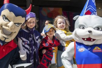 Footy Place at Forrest Place is a hub for grand final activity this week.