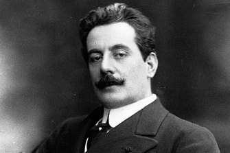 Giacomo Puccini, famous Italian composer of operas such as Madame Butterfly and La Boheme.
