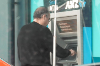 Adem Somyurek is captured on covert recordings withdrawing wads of cash to pay for fake memberships.