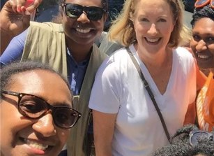 Elizabeth Broderick in Papua New Guinea last September, during the launch of an initiative to tackle family and sexual violence.