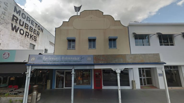 The shop front before construction work began.