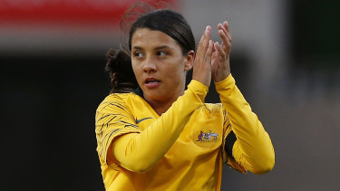 Kerr-ching: Sam Kerr is set to be the face of Nike's marketing in Australia.