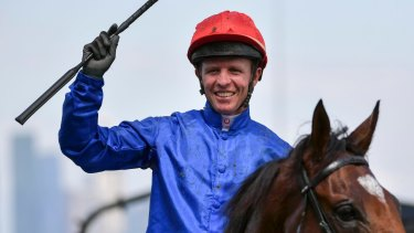 Kerrin McEvoy was fined for overuse of the whip in last year's Melbourne Cup.