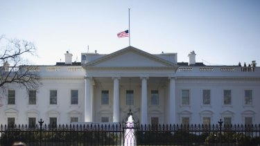 The White House flag will remain at half-mast until John McCain is buried.