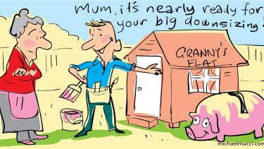 """Centrelink has a """"reasonable test"""" for granny flats limited to about $276,900."""
