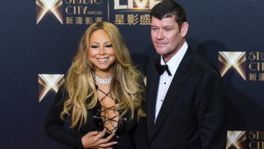 James Packer with ex-fiance Mariah Carey.