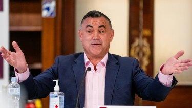 NSW Deputy Premier John Barilaro has decided not to quit politics.