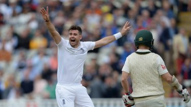 Pitched battle: England fast bowler James Anderson will appreciate the changes to the Dukes ball for this year's Ashes series.