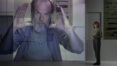 Hugo Weaving appears in the form of video diaries.