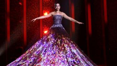 Elina Nechayeva from Estonia performs La Forza at Eurovision.
