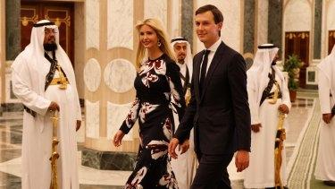Jared Kushner with his wife Ivanka Trump during US President Donald Trump's visit to Riyadh, Saudi Arabia.