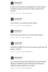 The series of tweets from Pablo Matera.