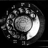 An example of the old-style letter and number telephone dial. This model included braille. From The Mail, Adelaide, February 8, 1941