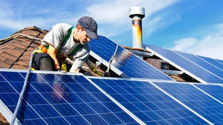 Solar panel installations soared to annual records - again - in 2018.