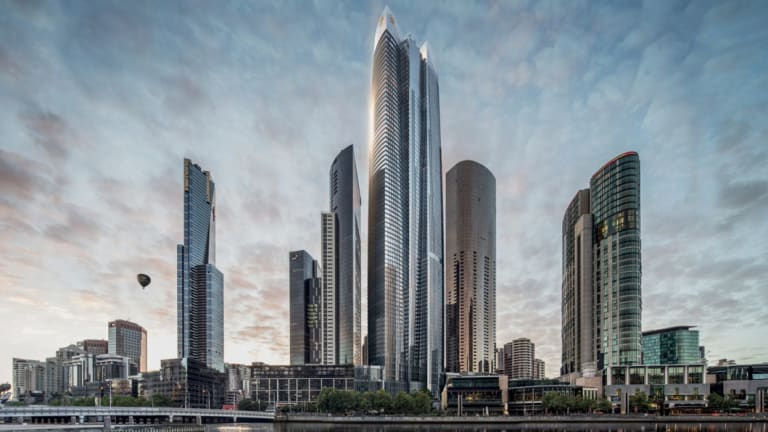 An artist's impression of the proposed One Queensbridge Tower development.