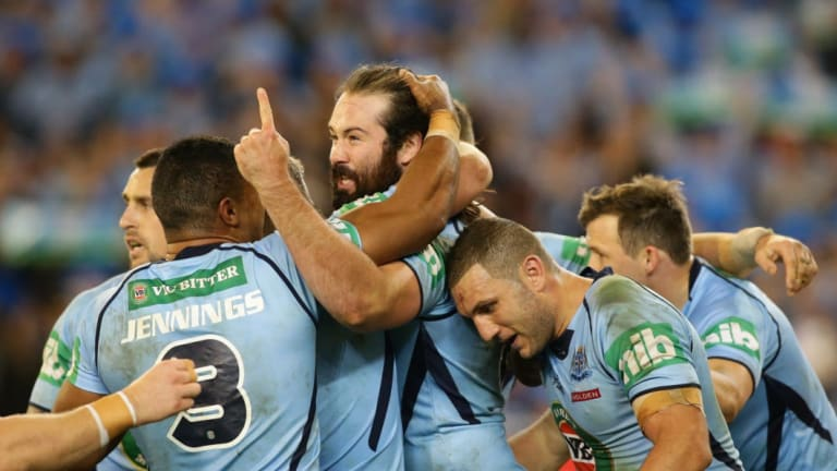 Out of the Blue: Aaron Woods lost his NSW jumper this year.