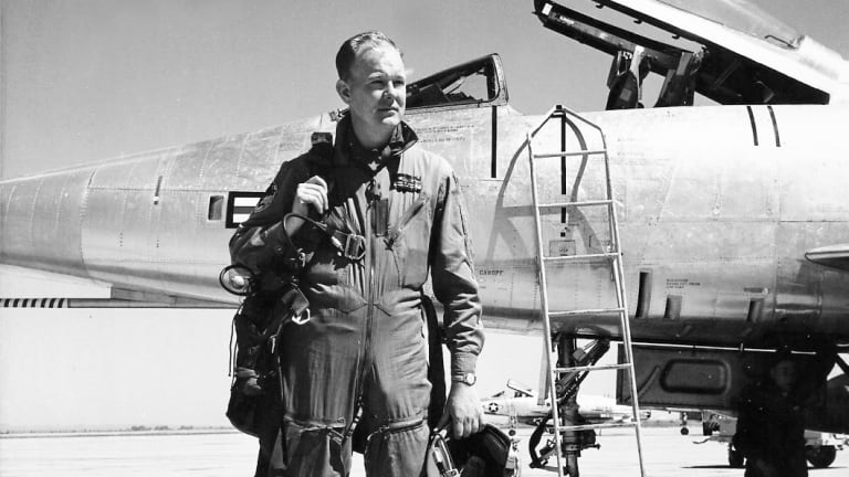 The late Air Vice-Marshal Fred Barnes, a decorated Korean War fighter pilot.