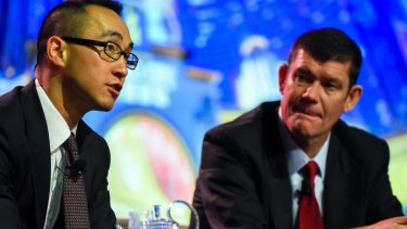 James Packer and Lawrence Ho, pictured here in 2015,  have had a long-term business relationship.
