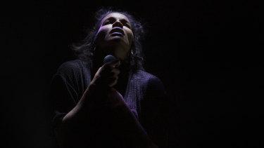 Zahra Newman stars in the Malthouse Theatre's reinterpretation of <i>Wake in Fright</i>.