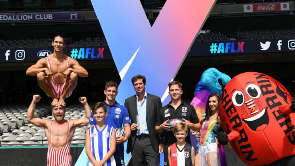 Flashback: AFL chief executive Gil McLachlan launched the AFLX competition back in January. It will have a new look next year.