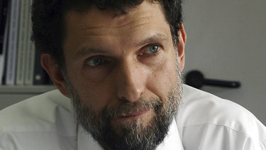 Pictured in 2015, Turkish philanthropist businessman and human rights defender Osman Kavala has been imprisoned for four years.