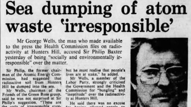 A Sydney Morning Herald article about the contaminated land from 1978.