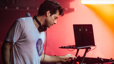 Mark Ronson in his pop-up Club Heartbreak at Universal in Sydney on July 10.