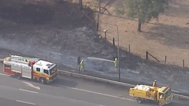 Residents have been told to evacuate after  a large fire at Marburg.