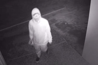 Police wish to speak to this man in relation to the suspicious fire at Nick Vlastuin's Torquay property.