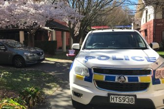 Police at the University of Canterbury's Sonoda Christchurch Campus student accommodation after a body was discovered on Monday night.