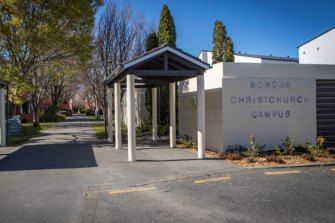 The student's body was found at student accommodation Sonoda Campus on Monday night.