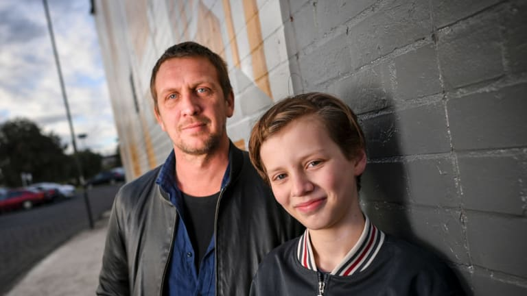 Damian Hill, pictured with his stepson and co-star Ty, died on Saturday night.