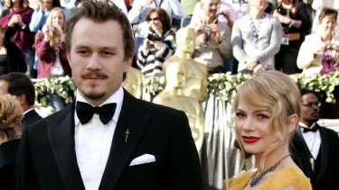 Heath Ledger and Michelle Williams at the Academy Awards, where he was nominated for Brokeback Mountain in 2006.