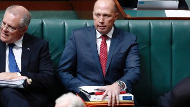 The plotter's leader of choice was Peter Dutton.