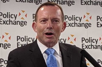 Tony Abbott was asked about the book Seventy Two Virgins in his speech.