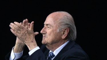FIFA president Sepp Blatter applauds after his re-election as FIFA president in 2015. He resigned shortly after.