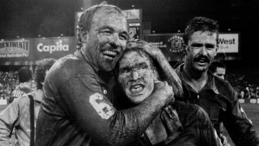 Scary: Queensland great Wally Lewis, left, is another Immortal to suffer from epilepsy.
