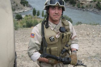 Fred Bradford during a tour of duty in Afghanistan in 2006.