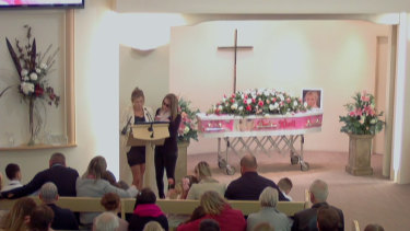 Murder victim Ellie Price has been remembered at her funeral service in Tasmania where she was laid to rest in a pink coffin.