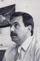 The head of the Delta taskforce Neil Comrie, in the days when it was illegal for a detective to be seen without a moustache.